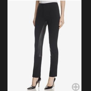 Theory Leather Panel Riding Pants. Size 0. NWT.
